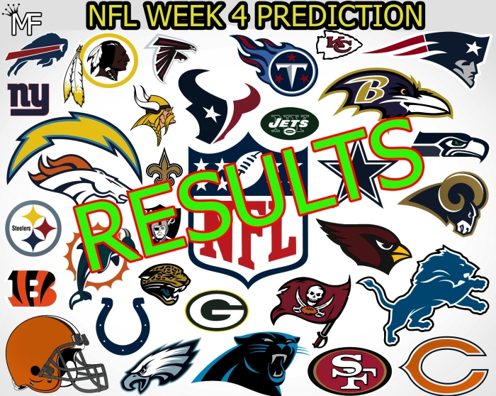 NFL results week 4