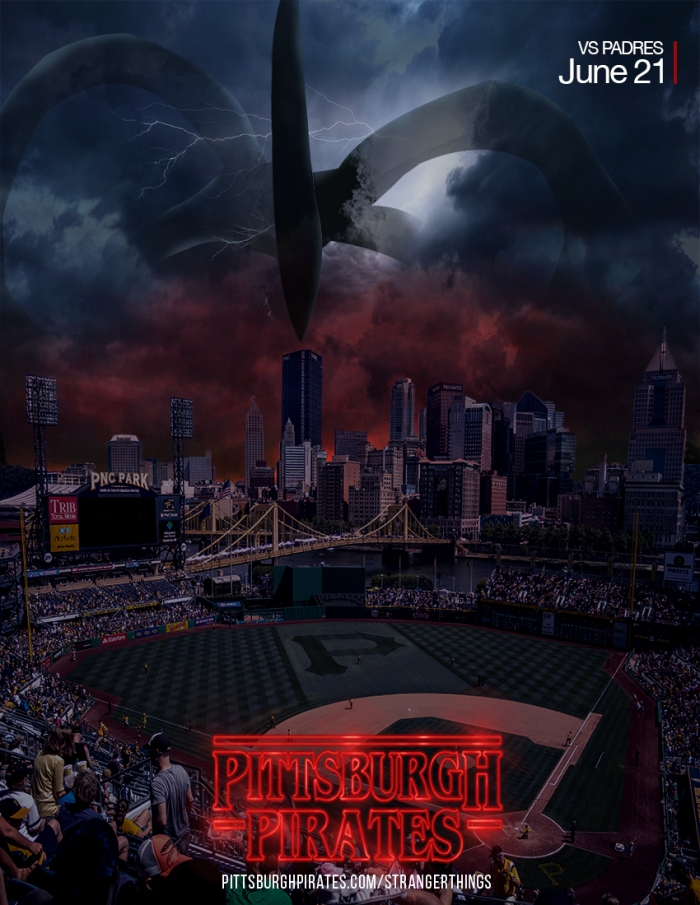 PNC PARK STRANGER THINGS POSTER DONE
